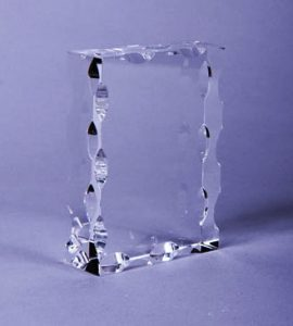 plakat crystal gelombang  KN 04312X9X3 CM
