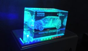 crystal laser 3D mobil