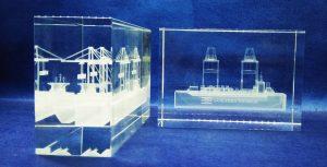 crystal laser 3D