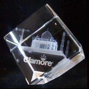 Cube 3D crystal
