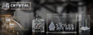Plakat exsclusive .crystal 3 dimensi ,.3D crystal .jakarta.indonesia