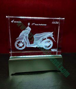 Souvenir crystal 3D Exsclusive
