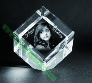 Crystal 3D Photo cube