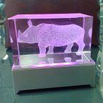 Crystal 3D Badak – Tugu Banten