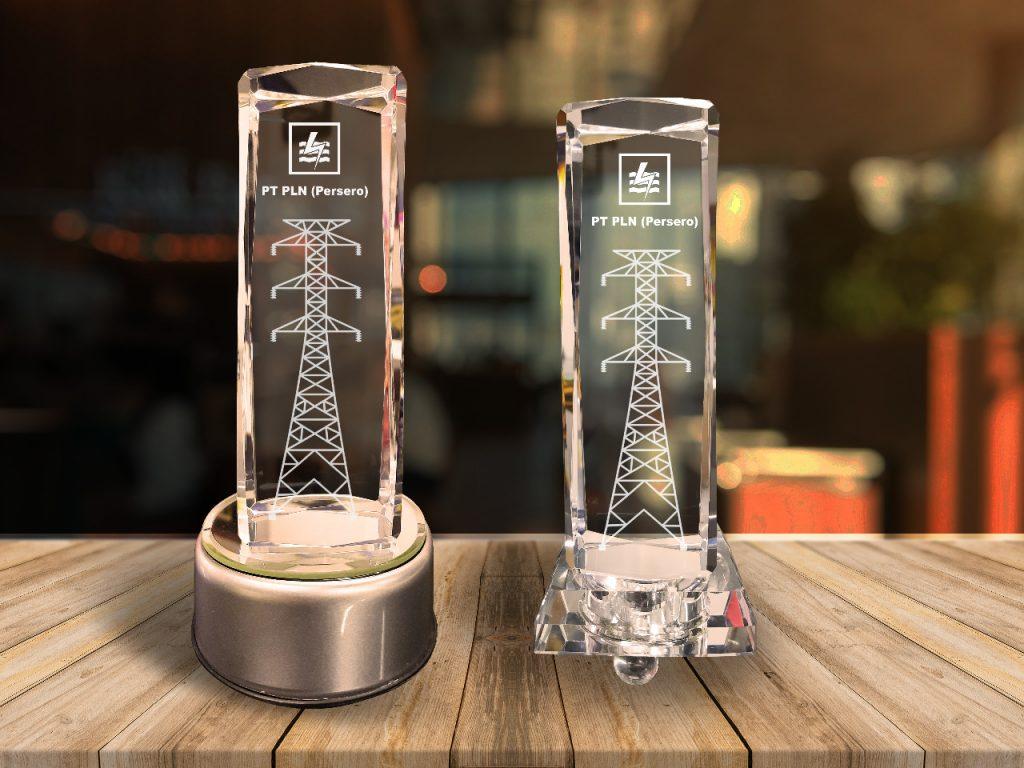 crystal trophy menara PLN
